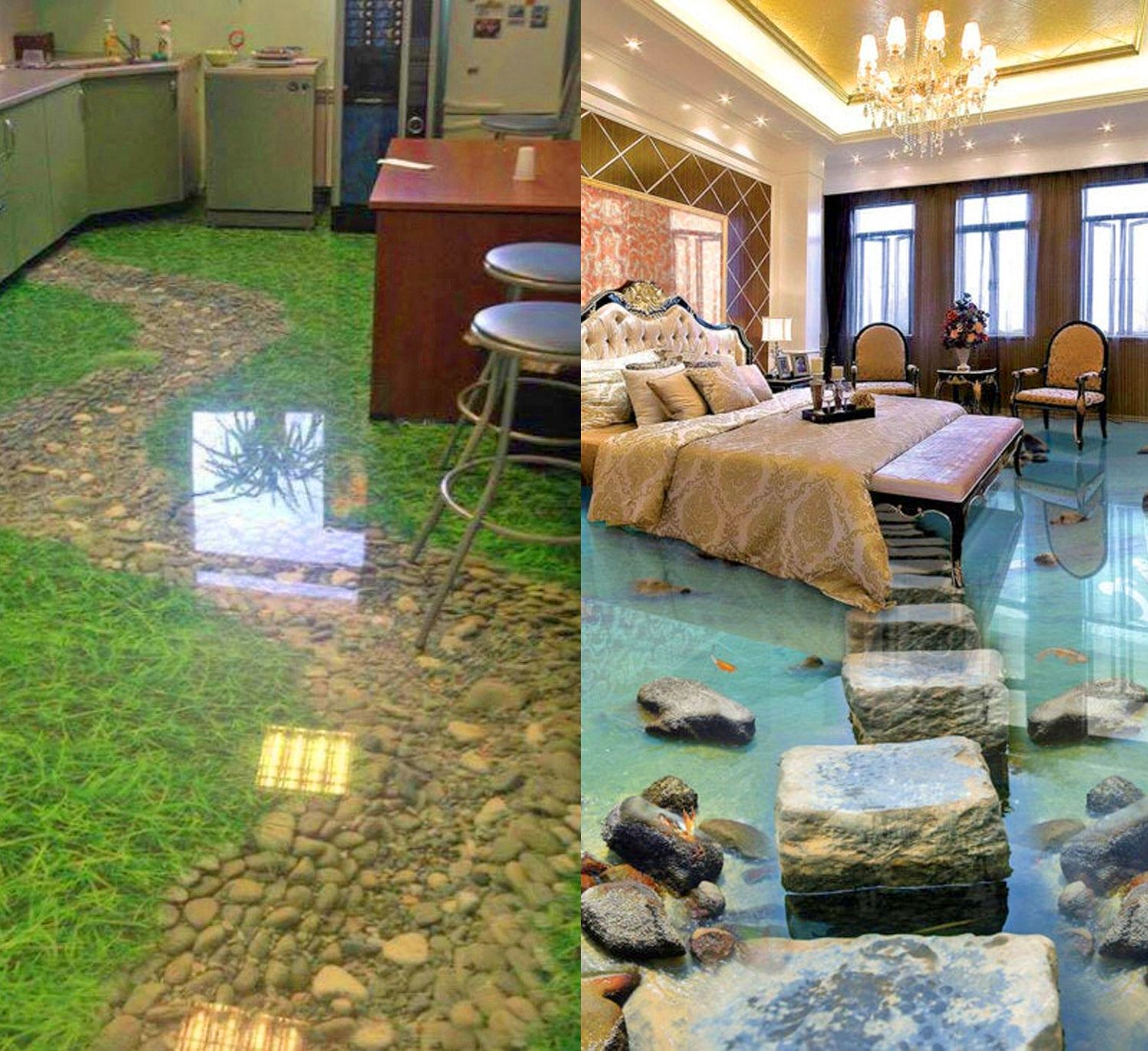 You Can Now Get 3D Epoxy Floors That Will Turn Your Room