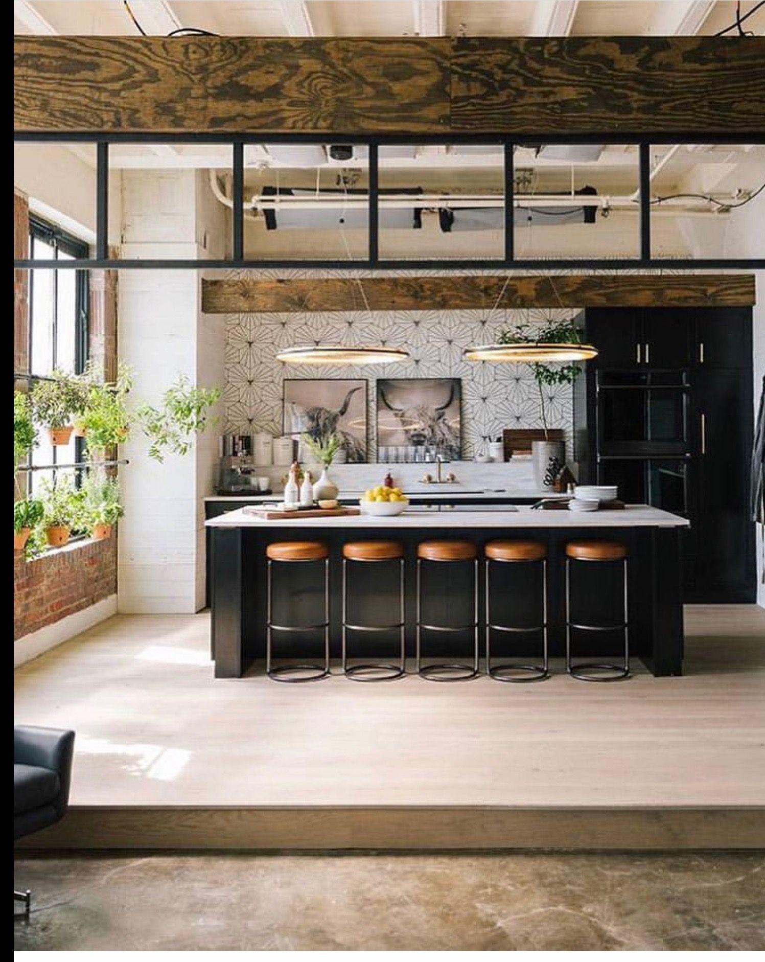 pin by tracy quillian on unique home loft kitchen on awesome modern kitchen design ideas id=28194