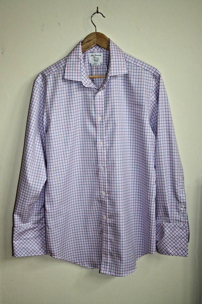 7e4618dcd TM Lewin Fitted Fashion Designer Men s Shirt Size 16