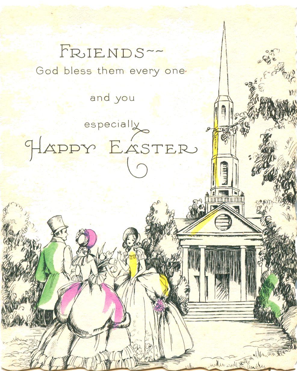 unmarked Hallmark Easter card – Hallmark Easter Cards