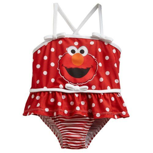 7dbfb34e1 Best Swimwear, Kids Swimwear, Elmo World, Red Swimsuit, One Piece Swimsuit,