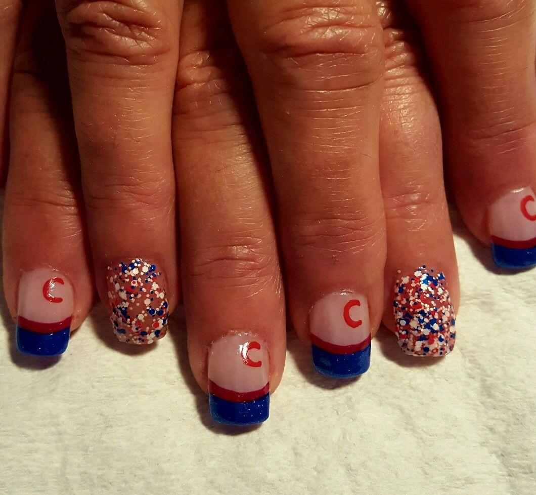 Chicago Cubs Nails Becky. Nail Design Art