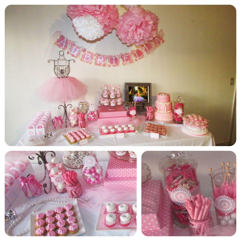 Ballerina birthday theme for baby girls 1st birthday