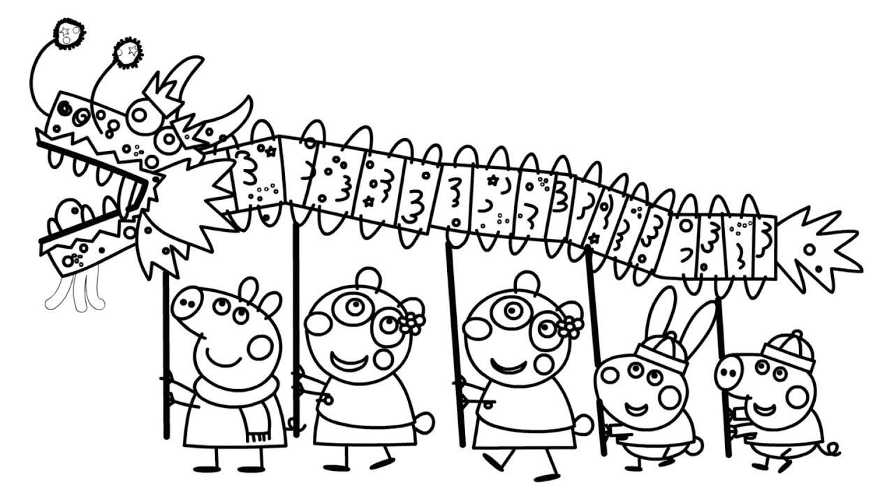 Peppa Pig Chinese New Year Coloring Pages New Year Coloring