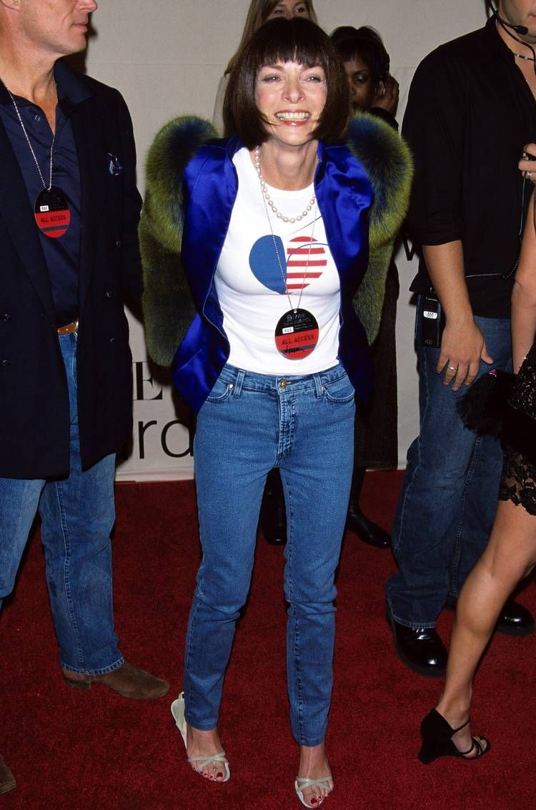 Anna Wintour Wearing Jeans Outfits | Who What Wear UK