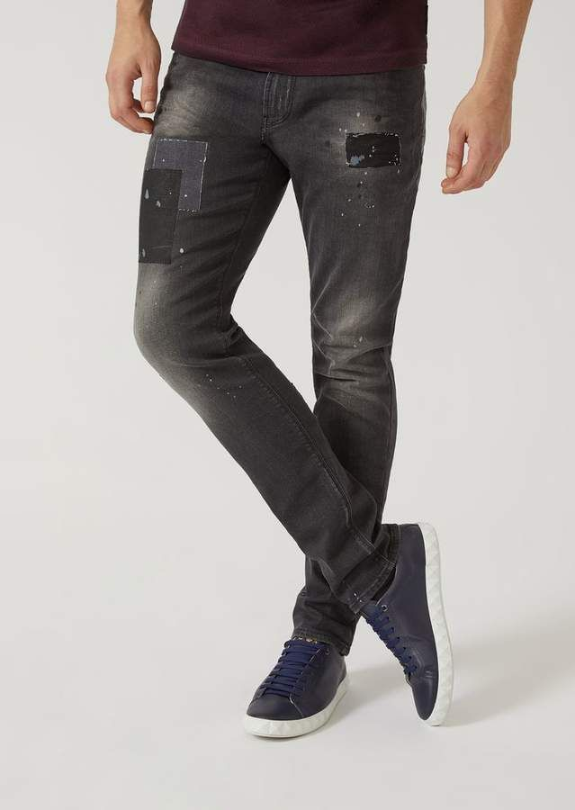 1909cc626d Emporio Armani J06 Slim Fit Stretch Cotton Denim Jeans | Products in ...