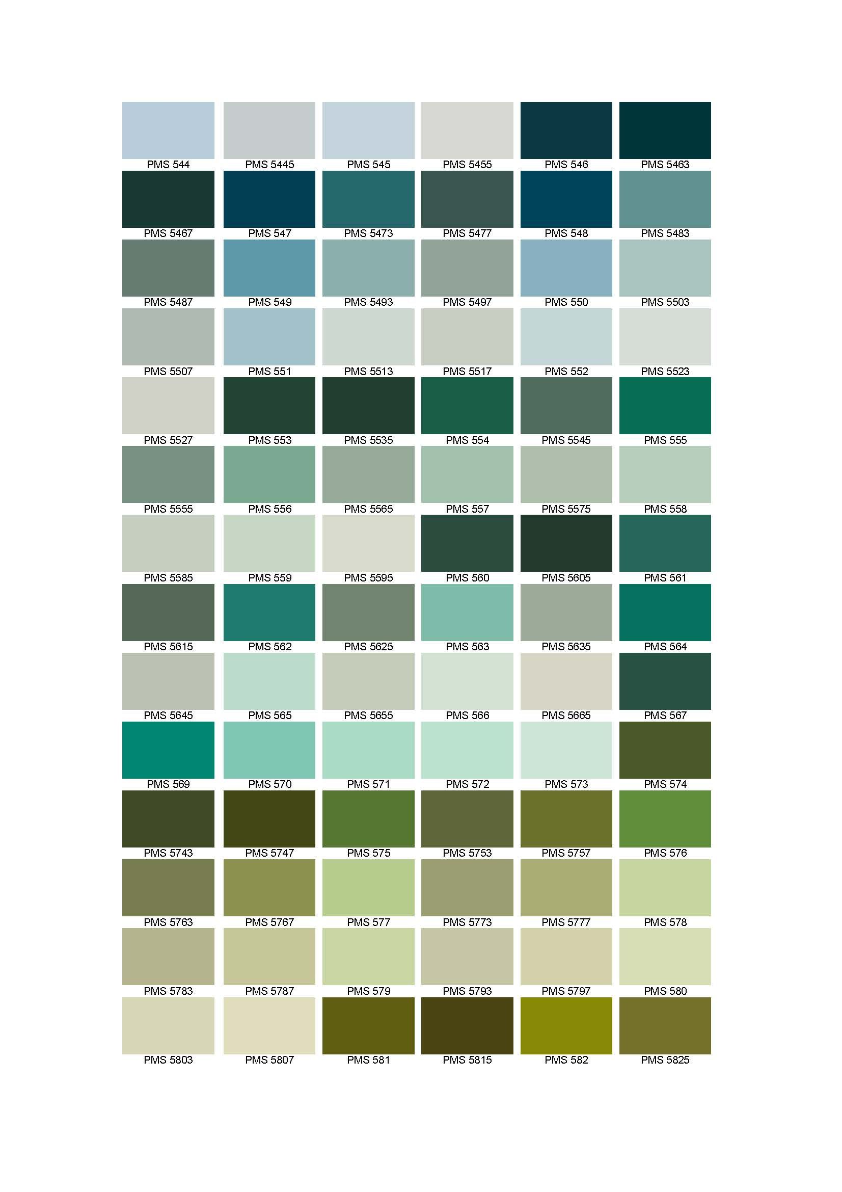 Pantone Colour Chart  Cable And Wire Information Forum  Color