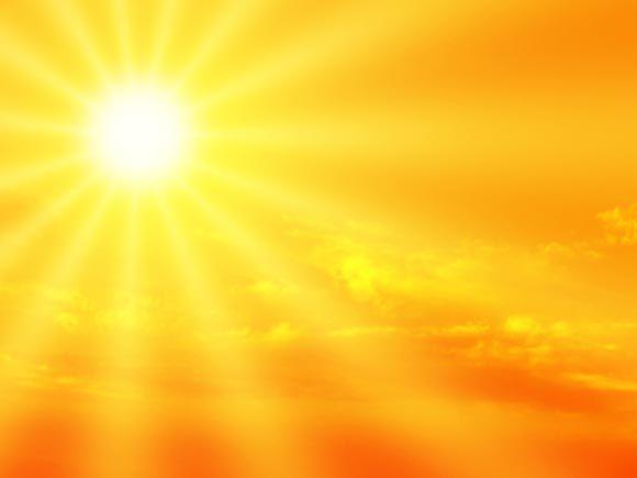 gelber himmel mit strahlendem sonnenschein vitamin d nehmen wir vorwiegend ber die sonne. Black Bedroom Furniture Sets. Home Design Ideas
