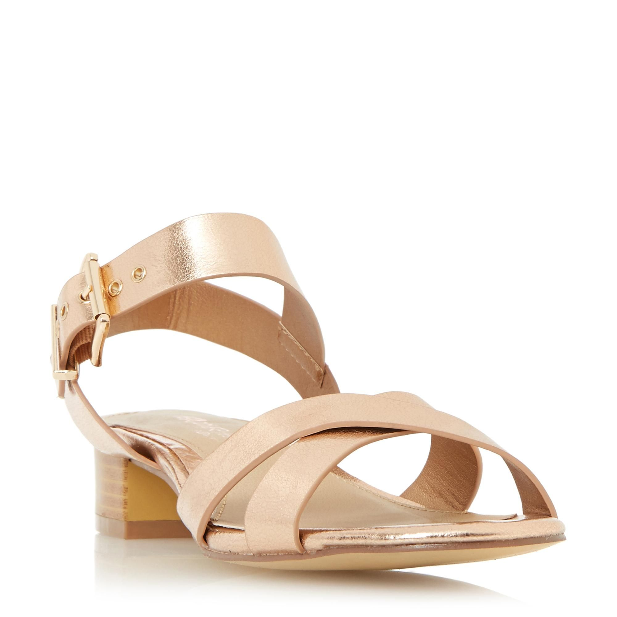 f0b45926ac25d Women s Rose Gold Cross Strap Cork Sole Flatforms Summer Sandals Ladies  Shoes