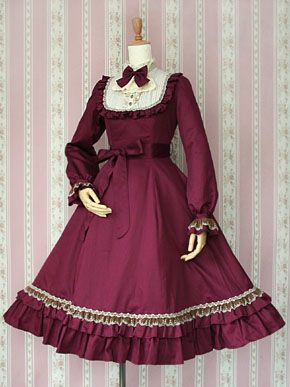 e3486860c162e Classical Doll Long OP (2011) red ロリータファッション