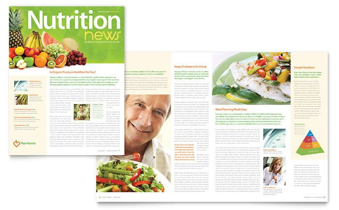 nutritionist and dietitian newsletter design template by stocklayouts