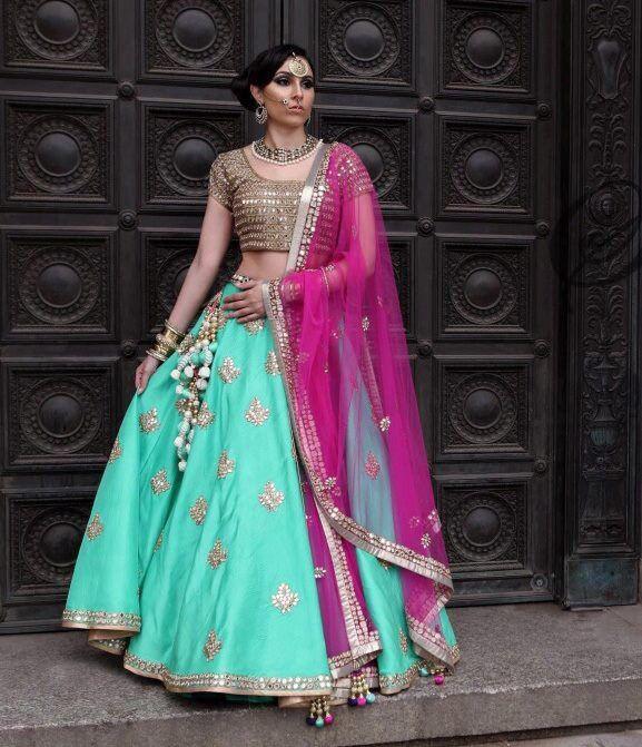 Sea Green Party Wear Bollywood Lehenga Choli Online | Bollywood ...