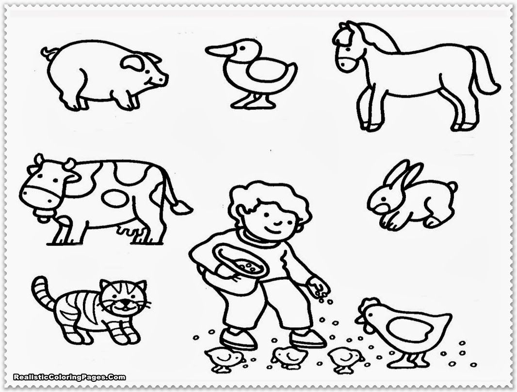 Farm Animal Coloring Pages | Realistic Coloring Pages | Coloring ...