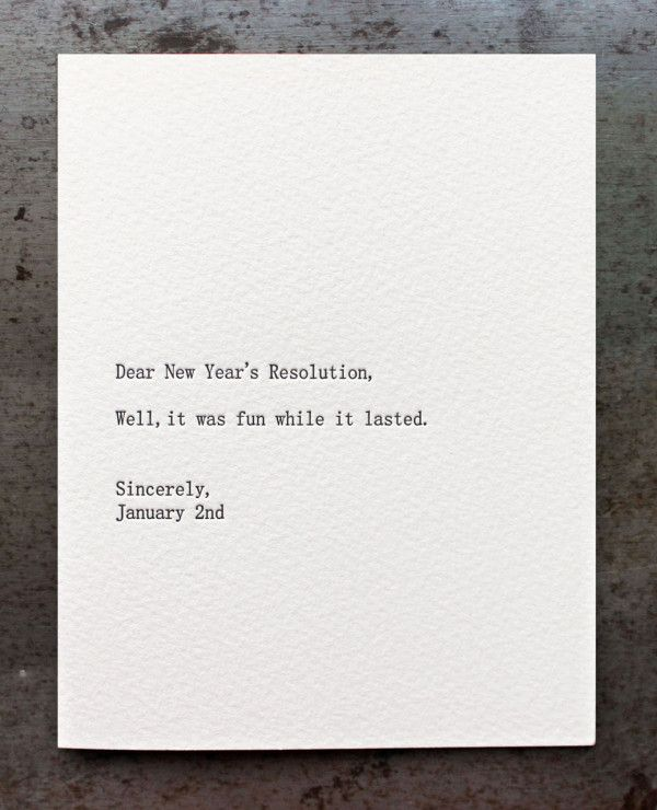 14 Cards To Wish Someone A Happy New Year Design Milk Funny New Year New Years Resolution Funny Quotes About New Year