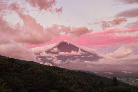 Pink Fuji Photo by Yuga Kurita — National Geographic Your Shot