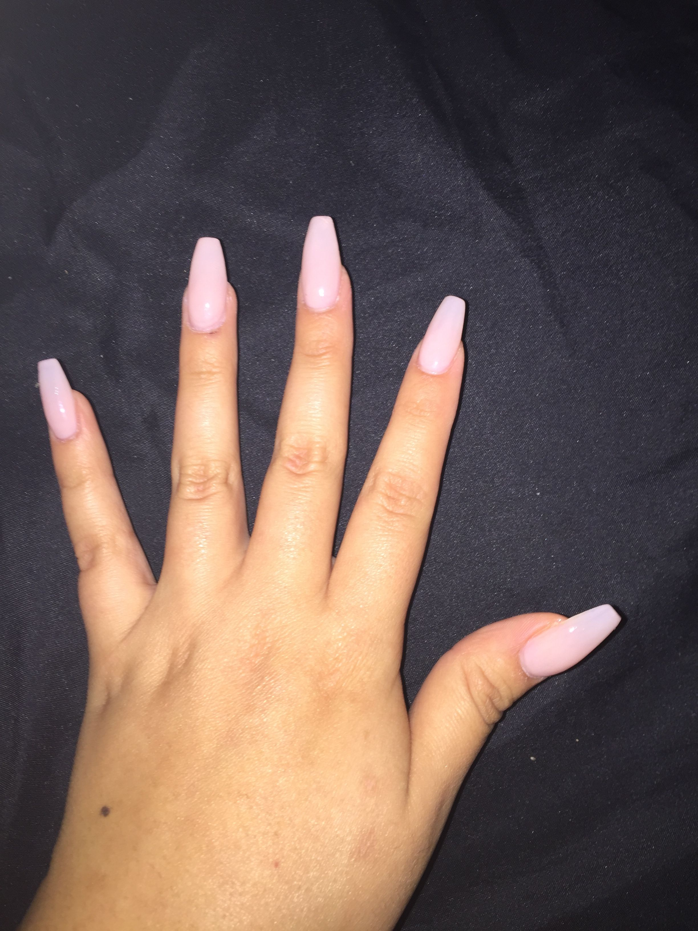 Natural Coffin Nails OPI Bubble Bath | Nails | Coffin ...