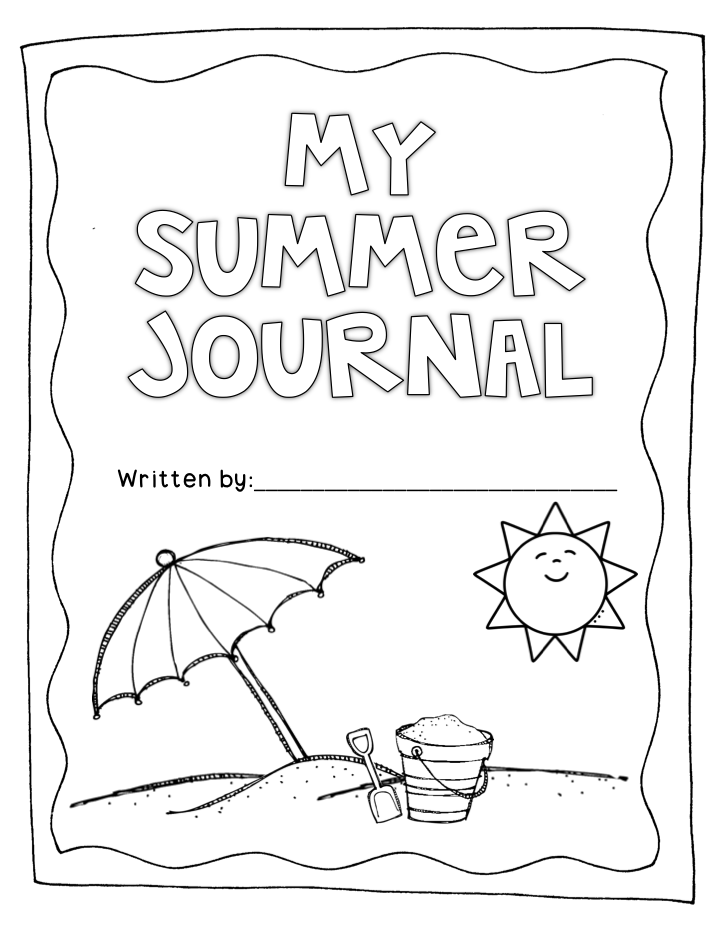 Writing Book Cover Printable : Summer journal to keep your kiddos writing over the