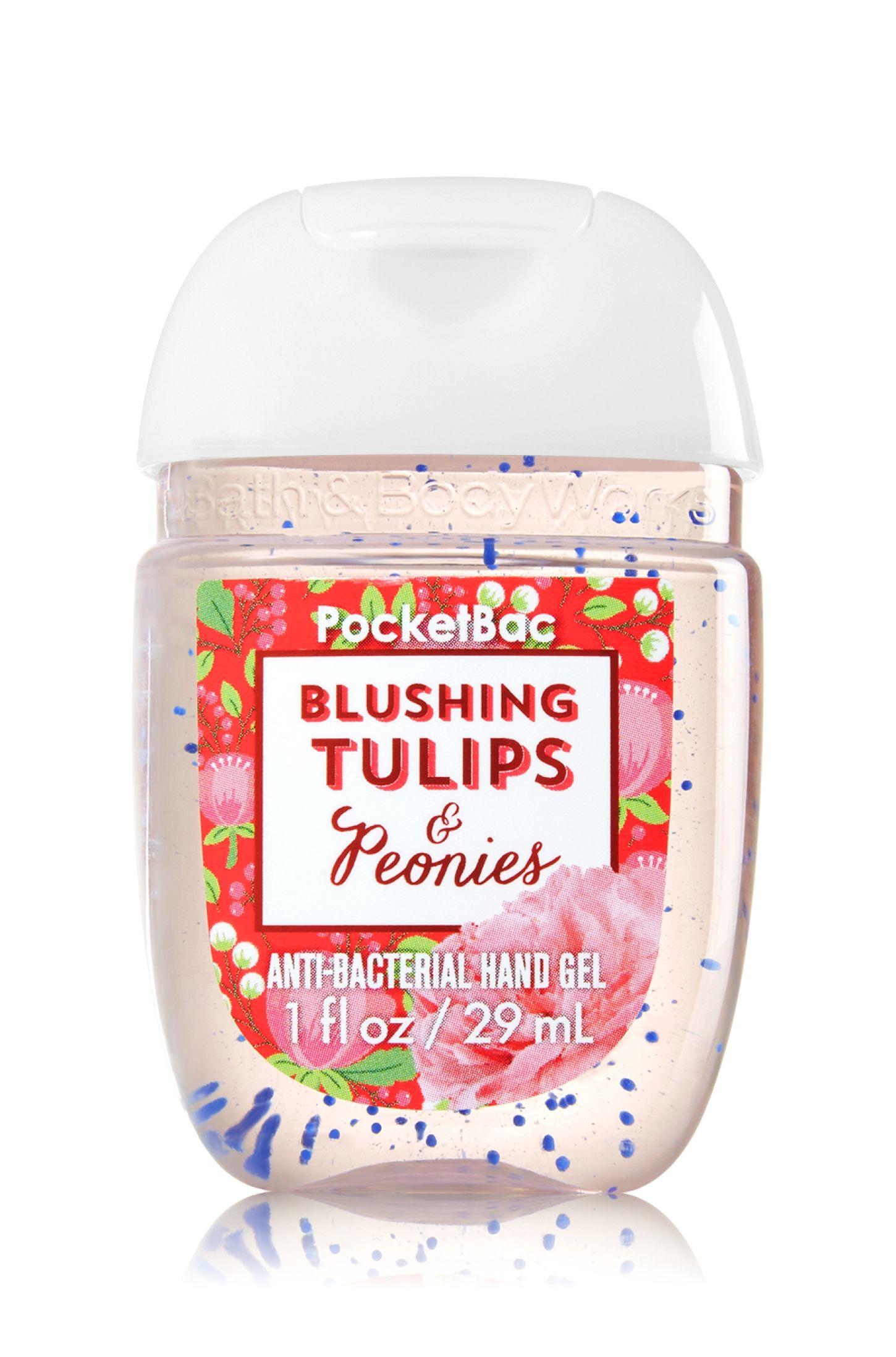 Blushing Tulips Peonies Pocketbac Sanitizing Hand Gel Soap