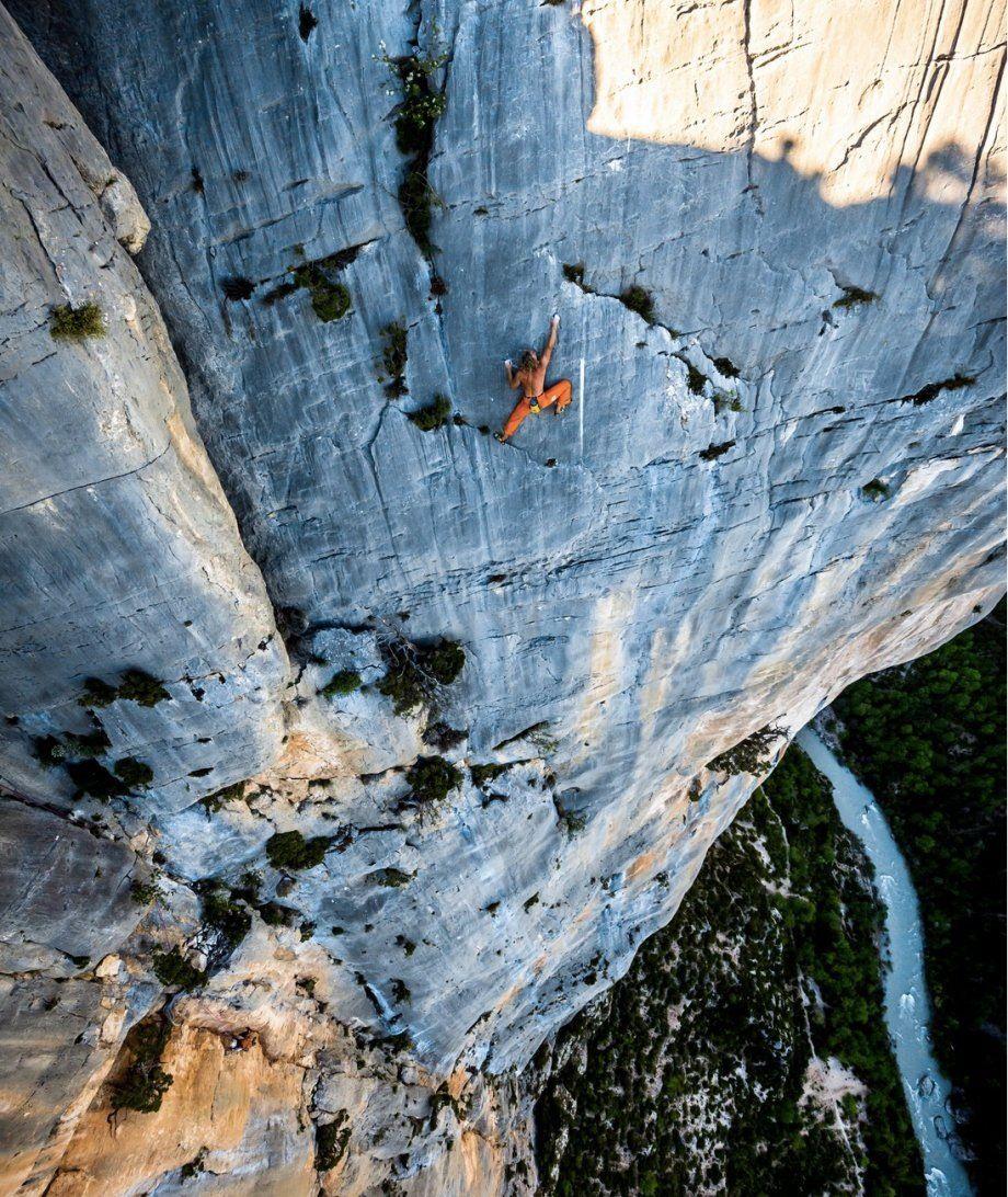 Extreme rock climbing down a cliff #REI #mountainclimbing