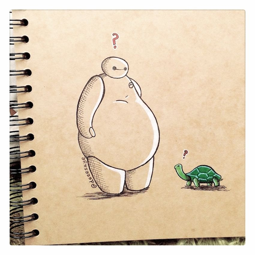 Baymax Meets a Turtle :) by DeeeSkye.deviantart.com on @DeviantArt