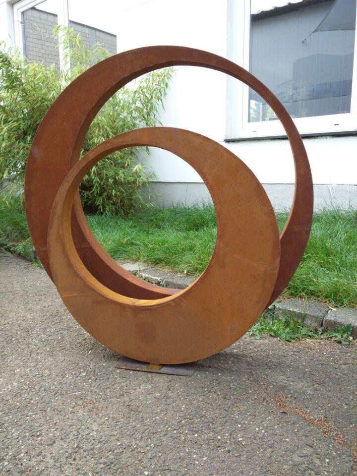 Charmant Edelrost Gartenskulptur Rost Garten Figure 80*5cm Und 60*5cm