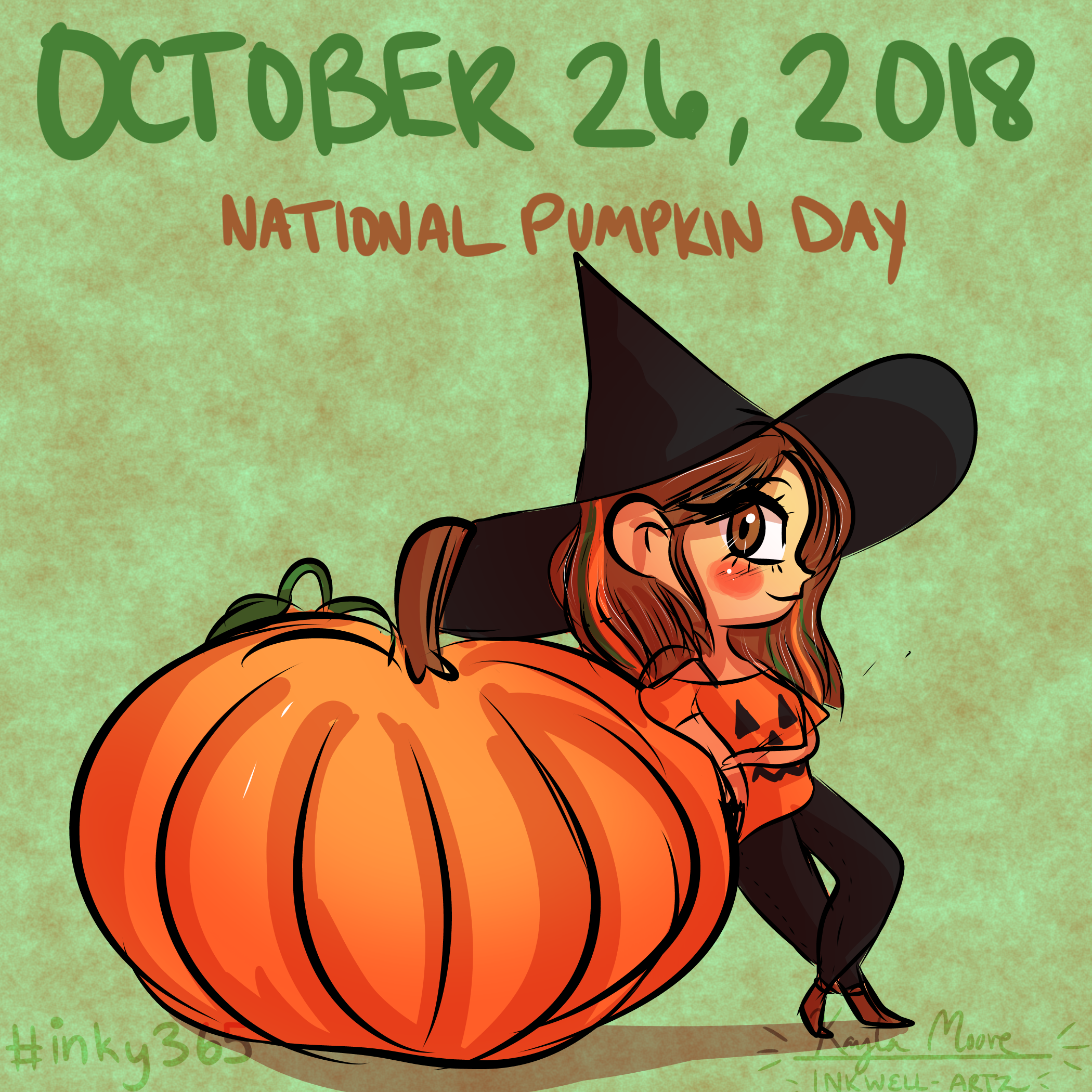 Happy National Pumpkin Day Drawing Challenge Daily Drawing Happy Pumpkin