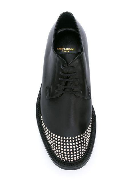 21d75c7ad25 Saint Laurent Derby studded shoes Derby, Men Dress, Dress Shoes, Boutiques,  Saint