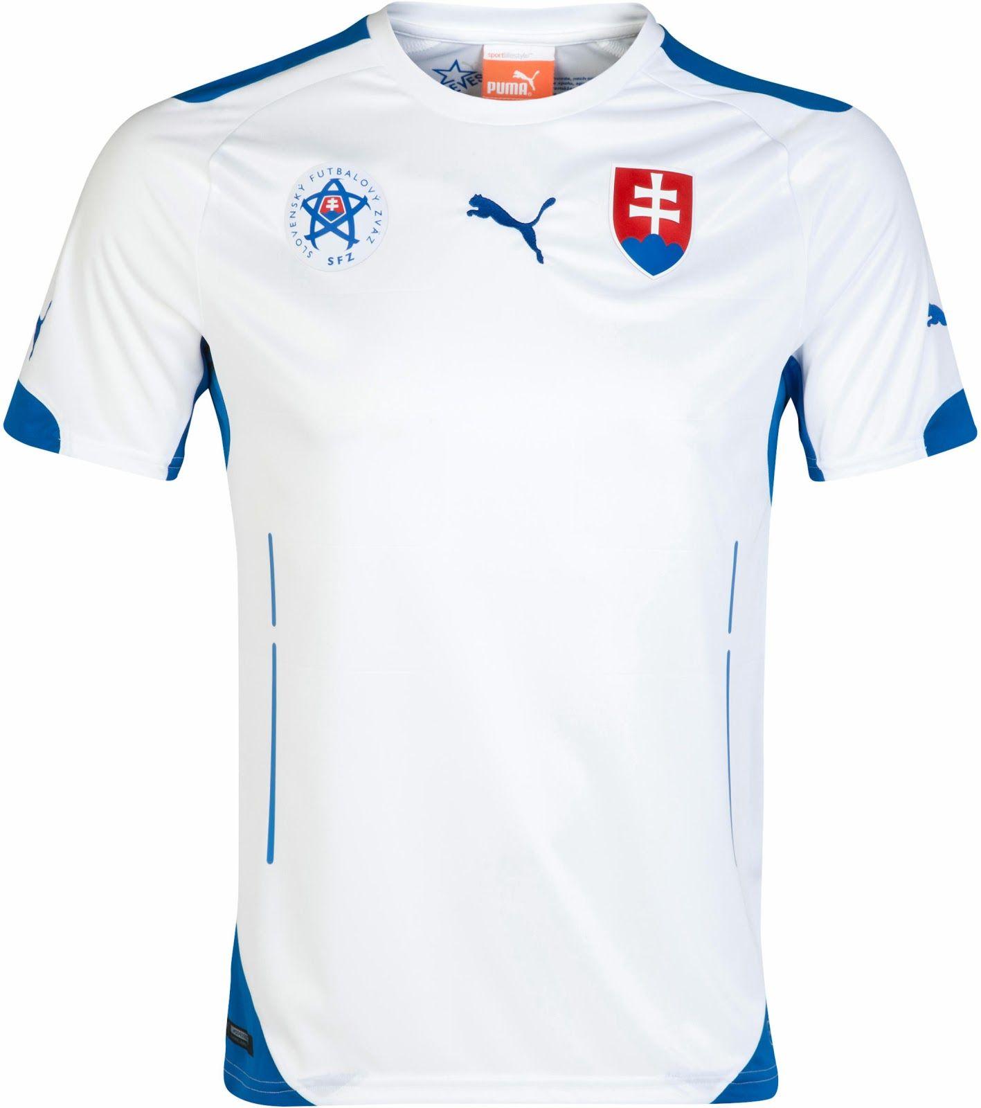 Slovakia (Slovenský Futbalový Zväz) - 2014/2015 Puma Home Shirt