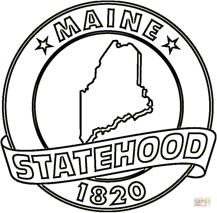 State Of Maine Coloring Page Free Printable Coloring Pages