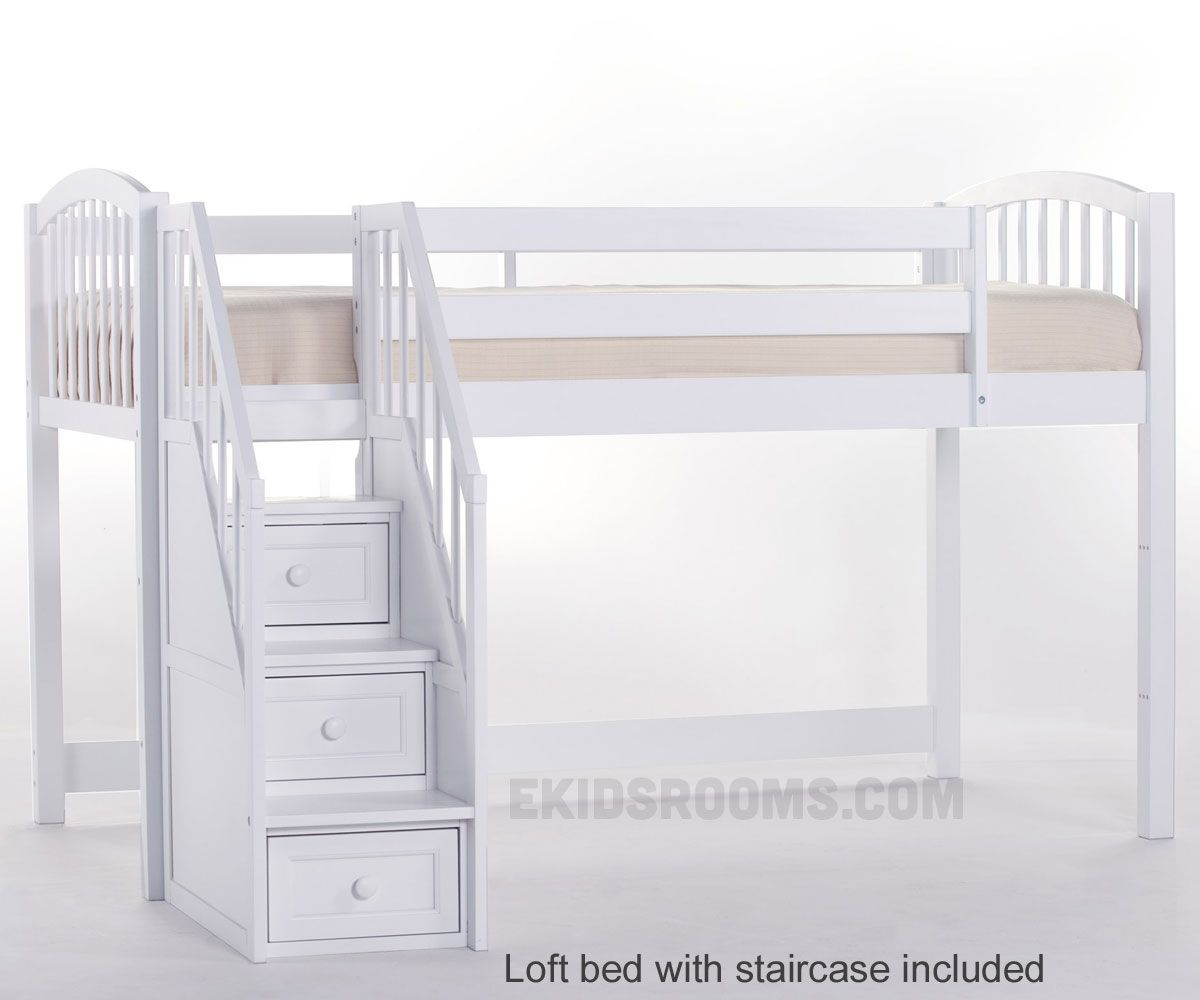 Loft bed with desk and stairs  White Loft Bed with Desk and Stairs  New Living Room Set Check more