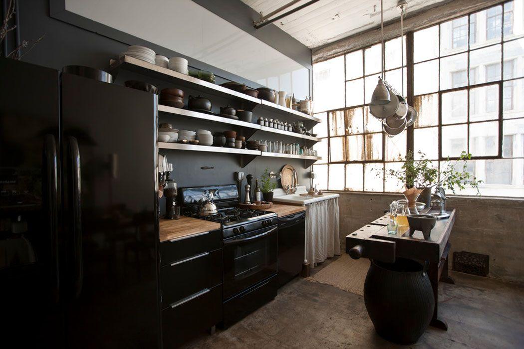 Loft de ville à New York au design intérieur inspiré par le style ...