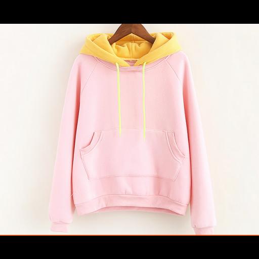 بلوفر اللونين وردي Fashion Hooded Jacket Jackets