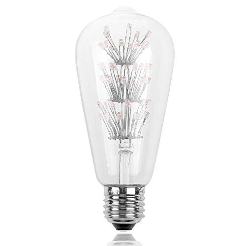 sunsbell st64 vintage edison design 3w e27 led decorative light bulbs 2200k warn white for holiday - Decorative Light Bulbs
