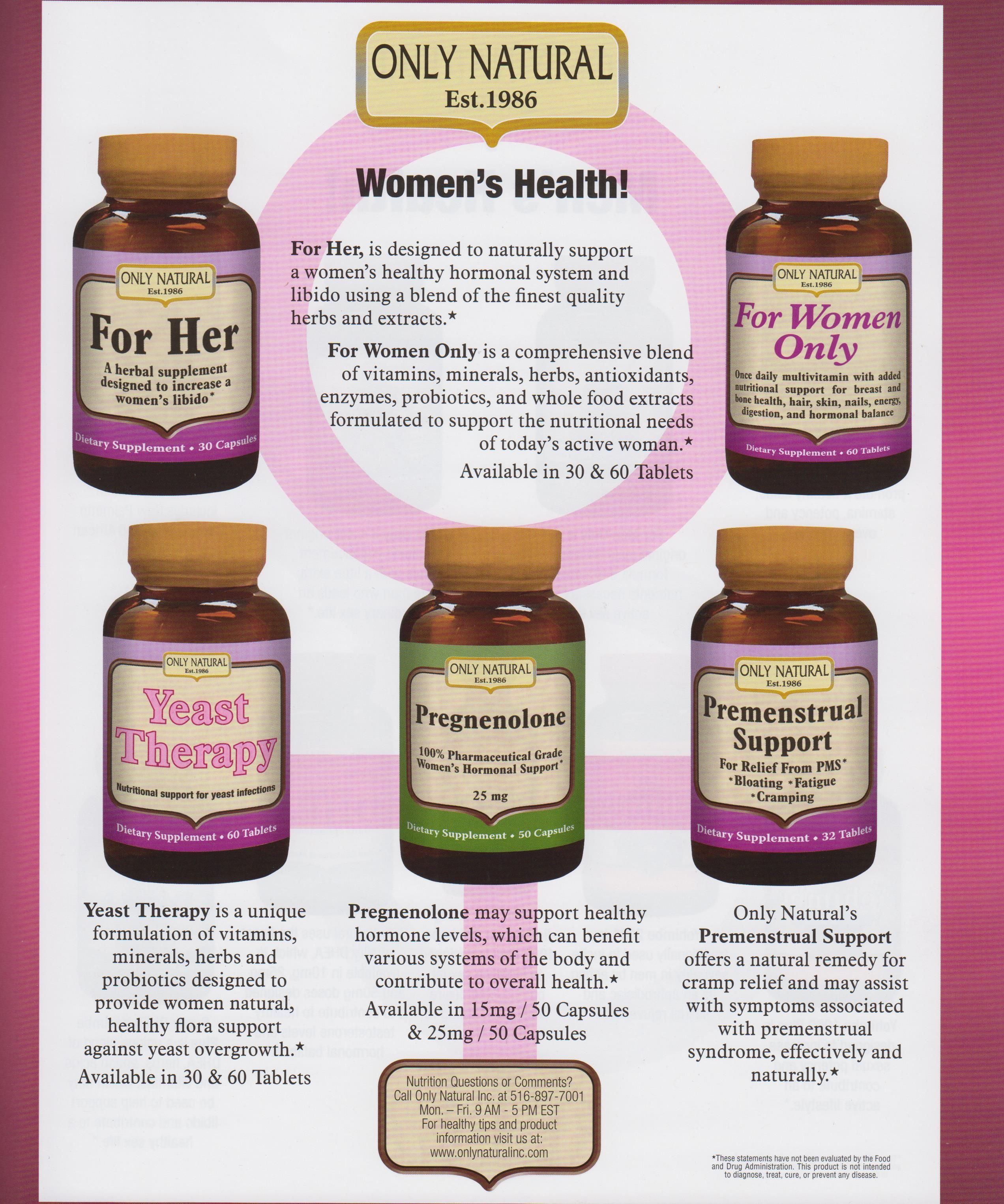 WomenS Health Product Flyer  Only Natural Product Flyers