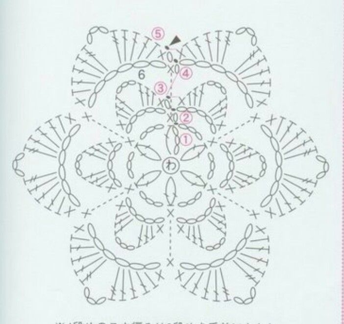 Picasa Web Albums Crochet Flower Pattern Diagram Crochet Flowers