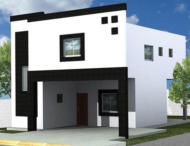 Fachadas de casas modernas de dos pisos peque as for Pisos minimalistas pequenos