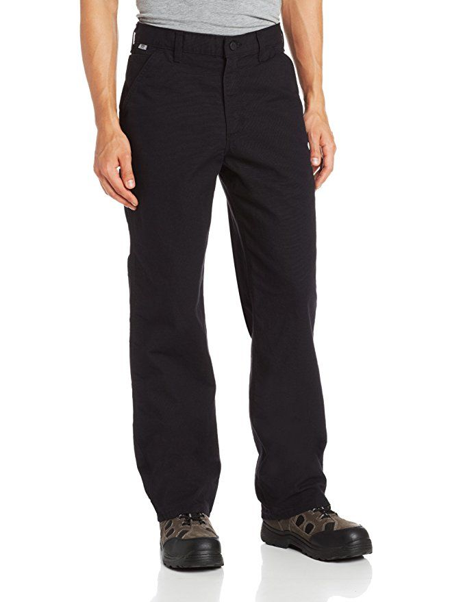Carhartt Men's Flame Resistant Washed Duck Work Dungaree,Black,32 x 34