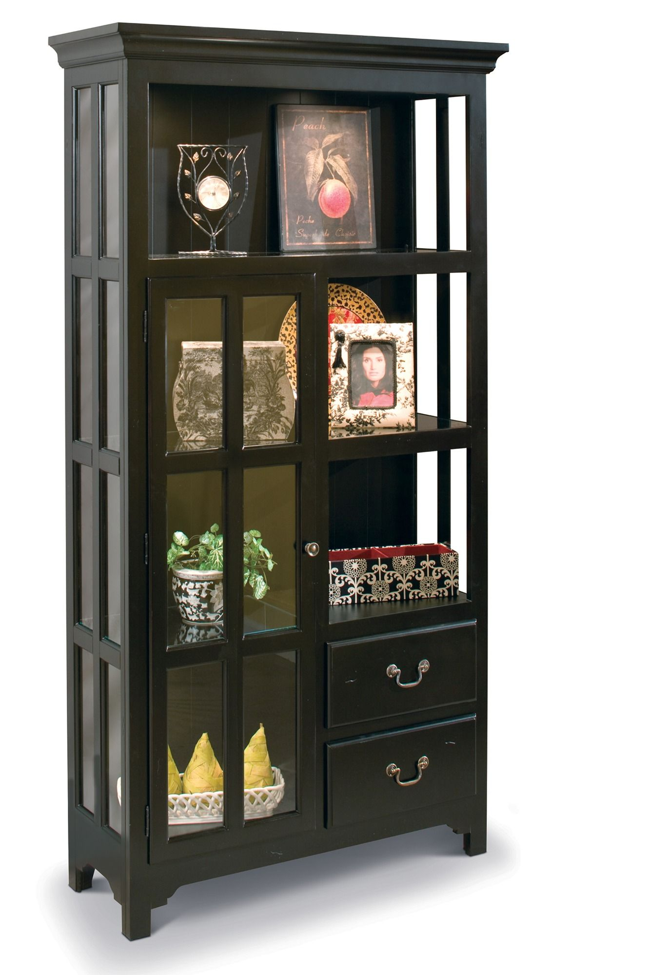 New Haven Display Cabinet In Black Philip Reinisch Home Gallery Stores With Images Display Cabinet Glass Cabinet Doors Cabinet