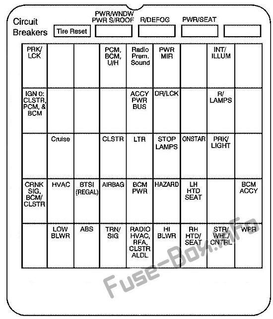 instrument panel fuse box diagram buick century (2004, 2005 1998 Buick Regal Fuse Box Diagram