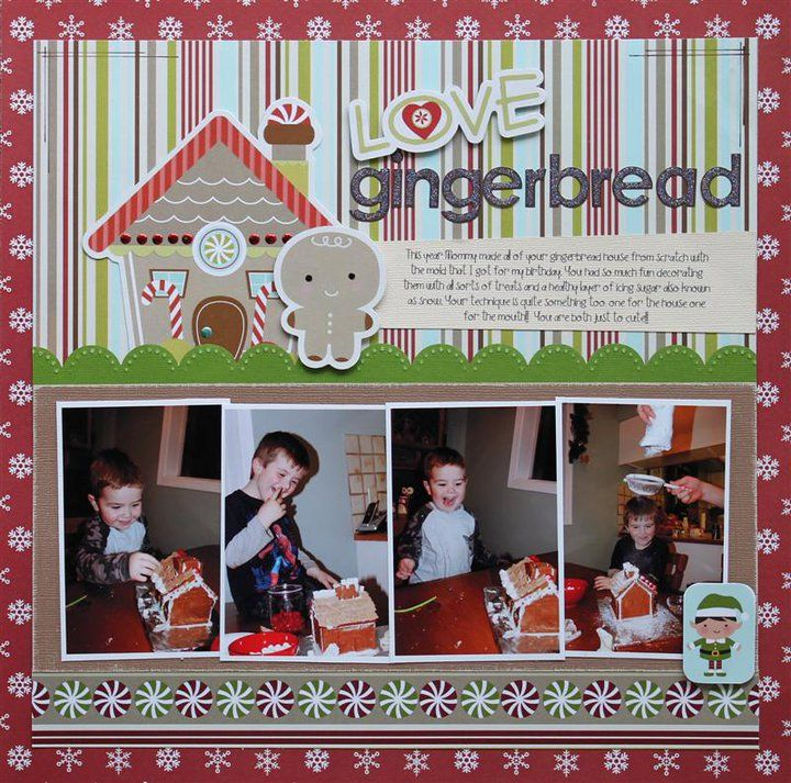 Cute Gingerbread House Layout.