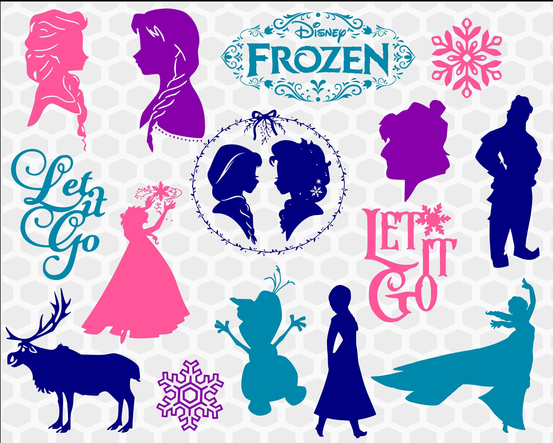 Disney Frozen svg bundle Elsa SVG Anna svg Olaf svg let it