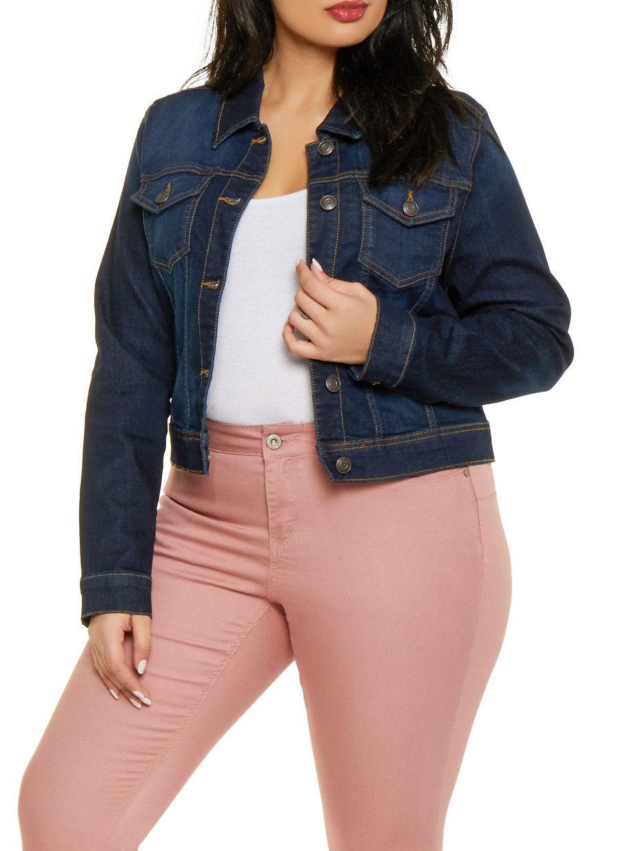 ac84fd4b1 Plus Size WAX Denim Jacket - Blue - Size 1X in 2019 | Products ...