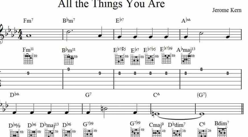 All the things you are - jazz guitar chord melody | audition