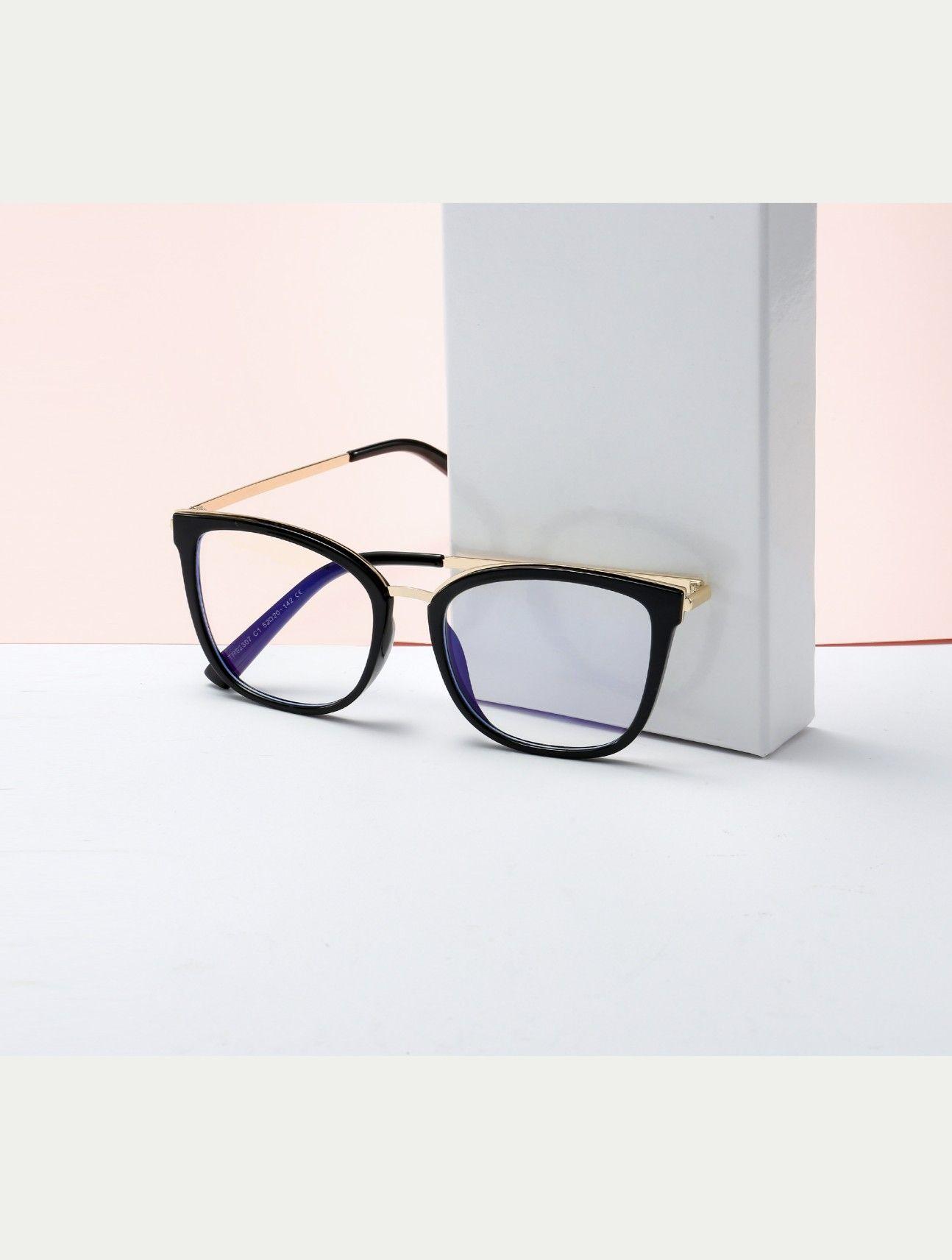 Gamer Glasses In 2020 Glasses Light Blue Cat Eye Glass