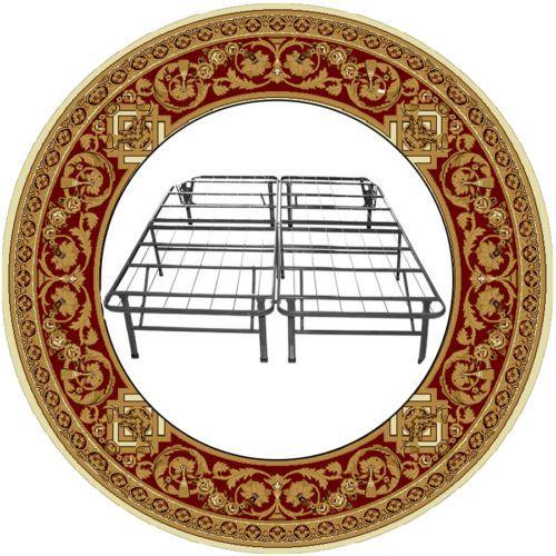 Metal-Bed-Frame-Innovative-Box-Spring-Bedroom-Best-Price-Sleep-Relax-Steel