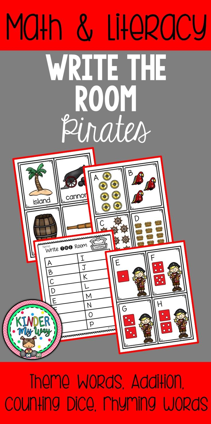 Write The Room Pirates Rhyming Activities Math Center Activities Literacy Center Activity [ 1470 x 734 Pixel ]