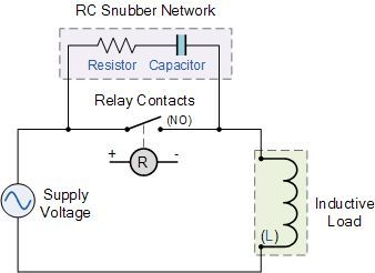 relay rc snubber network all sorts of computer engineering etc rh pinterest com Relay Switch Diagram Headlight Relay Switch