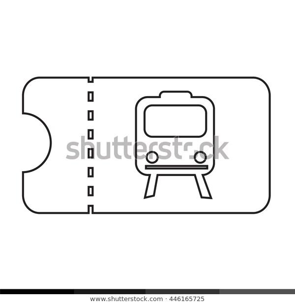 Train Ticket Icon Illustration Design Stock Vector Royalty Free 446165725 Icon Illustration Illustration Design Illustration