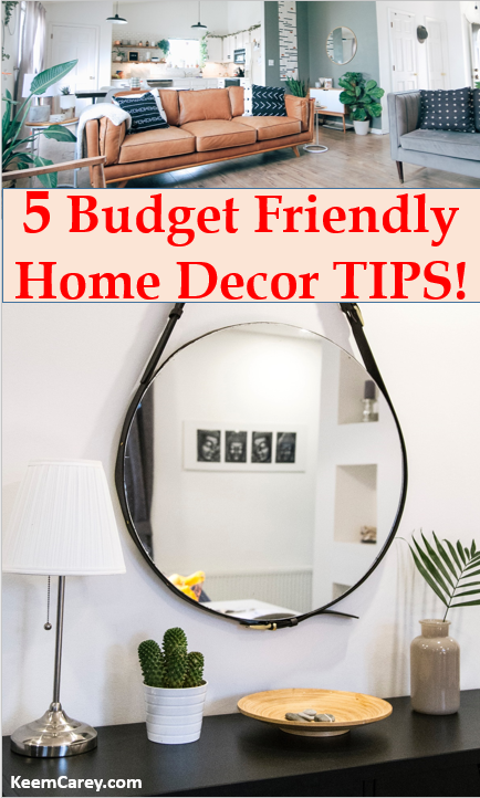 If you're looking for new ways to decorate your apartment, you have to check out these 5 BUDGET friendly home decor tips!  #homedecor #homedecorDIY #homedecorideas #homedecorlivingroom #homedesign #decorforcheap #amazondecor
