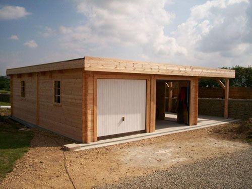 garage toit plat avec buché Garage Pinterest Garage toit plat